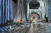 The East Side Access project #1, New York, NY, USA, 17.02.2015, 40 x 60 cm, &Ouml;l/Malkarton<br><a style=&#34;color:#969&#34; href=&#34;mailto:info@tylle.de?subject=Preisanfrage: 1327  The East Side Access project #1&#34;>Preisanfrage</a>