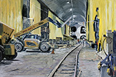 The East Side Access project #2, New York, NY, USA, 18.02.2015, 40 x 60 cm, &Ouml;l/Malkarton<br><a style=&#34;color:#969&#34; href=&#34;mailto:info@tylle.de?subject=Preisanfrage: 1328  The East Side Access project #2&#34;>Preisanfrage</a>